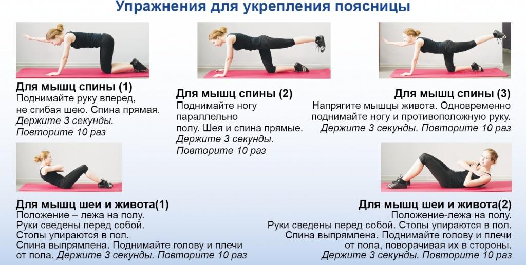 Упражнения для укрепления мышц позвоночника в домашних условиях
