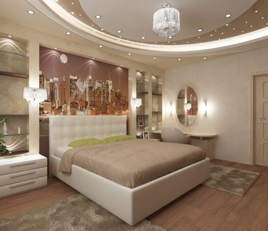 Освещение в гостиной с натяжными потолками