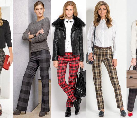 Женские клетчатые брюки – с чем носить?