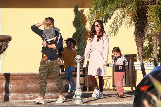 *EXCLUSIVE* Megan Fox and Brian Austin Green take their kids to Color Me Mine