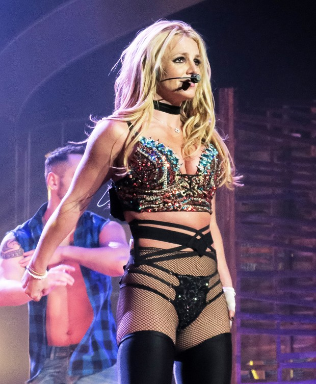 Britney Spears performs at the AXIS at Planet Hollywood in Las Vegas, CA